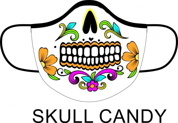 Printed Skull Candy Face Mask